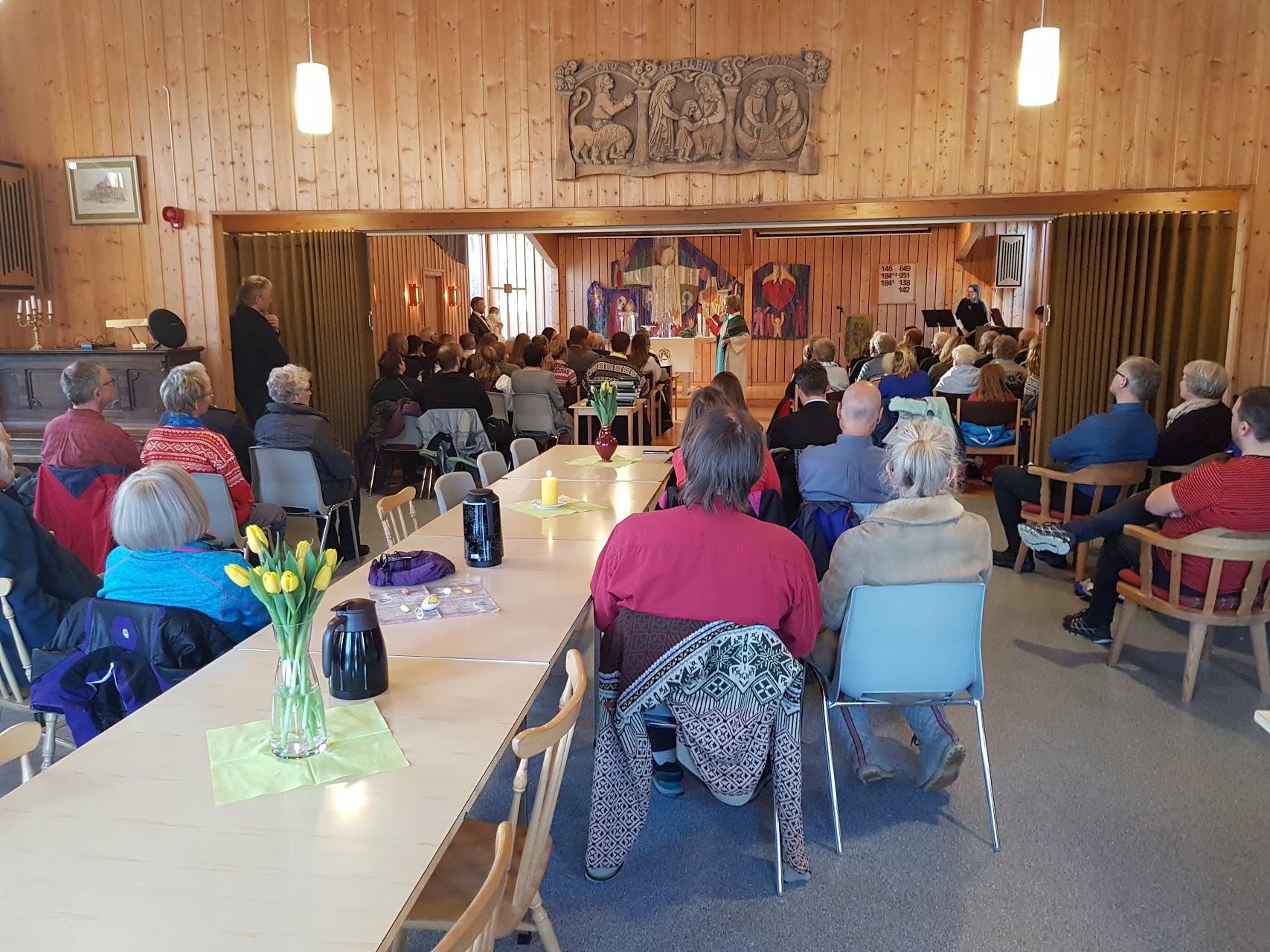 Godstjeneste på Skirva Fjellkyrkje
